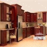 熱い販売法のBckの米国式の赤いチェリーの純木フレームの食器棚