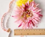 新しくファンキーな2つの花形の装飾的な花輪の伸縮性がある花のヘッドバンド