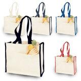 Il tessuto pieghevole ricicla/Eco/sacchetto non tessuto del cotone della tela di canapa di acquisto della spiaggia del regalo Tote della drogheria