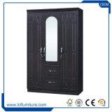 Tür der chinesischer Hersteller-moderne 3 Tür MDF-Garderobe Almirah Möbel-3