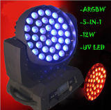 UV6in1 LEIDENE van het Gezoem van de Was 36X18W RGBWA PRO Lichte Bewegende Hoofden