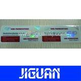 Ярлык пробирки Hologram поставщика Dongguan дешевый изготовленный на заказ слипчивый водоустойчивый