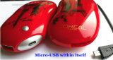 Cargador móvil de la potencia del regalo 5200mAh de la Navidad con la impresión de encargo de la insignia