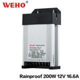 12V 200W AC/DC Rainproof LED IP53 (d'alimentation de puissance de commutation WFY-200-12)