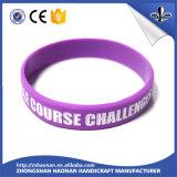 Bracelets professionnels de silicones de type de mode de DIY avec le logo