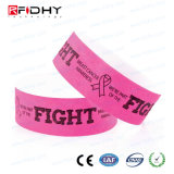 Wristband branco de RFID Tyvek para o hospital