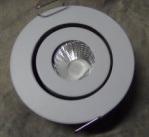 3 watts non Dimmable DEL rotative s'allument vers le bas