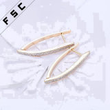 Latest Fancy Design manual larva Crystal dia. moon Eardrop gold Plated Special Women Earrings