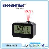regalo de promoción reloj de proyección con el tiempo y la función termómetro