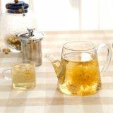 Высокий чайник боросиликатного стекла с фильтром нержавеющей стали