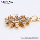 31008 mejor bola de cristal Venta Del Diamante CZ 18K Joyería Colgante Collar chapado en oro.