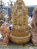 De antieke Marmeren Fontein van de Muur, de Fontein van het Beeldhouwwerk van de Leeuw van de Steen voor Tuin/Muur/Openlucht
