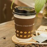 Venta caliente hueco doble pared tazas de café de papel impreso el logotipo personalizado