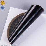 A impressão de base preta Water-Proof ouro o logotipo personalizado adesivo PVC