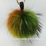 贅沢で毛深い球のキーホルダーのアライグマの毛皮のストリップのアライグマ