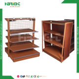 HilfsLadenregal-Metall und hölzernes Regal