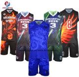 Los niños personalizado Reversible sublima el baloncesto Jersey