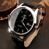 Neue Markeluxuxmens-Uhr-wasserdichte Form-Sport-Quarz-Armbanduhr-männliche lederne Mann-Uhr der Tendenz-Z308