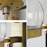 Pfosten-moderne Home- Depotbronzewand-Leuchter-helle Beleuchtung mit Glasfarbton für Wohnzimmer-Schlafzimmer-Badezimmer