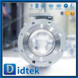 Válvula de esfera macia do eixo da selagem de Didtek Ce/API6d Wcb