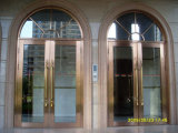 Deluxe goldene HandelsEdelstahl-Eintrag-Tür (BHS-DCA04)