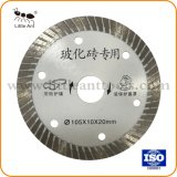 105мм сверхтонкий Turbo аппаратных средств режущий диск алмазные пилы для керамической белого цвета