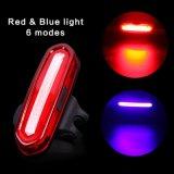 Luz trasera recargable de la cola de la bici de la bicicleta del USB del azul rojo de la MAZORCA LED