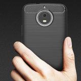 El caso de fibra de carbono cubierta de teléfono de TPU para Motorola Moto G5 G5S Plus