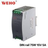 75W Dinrail 110V /220V au bloc d'alimentation industriel Dr-75-15 de C.C 15V