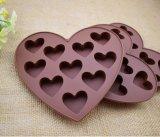 Forme de coeur Muffin des bonbons au chocolat cuisson des moules en silicone