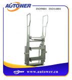 Scaletta portatile piegante d'acciaio di punto per la piattaforma del vagone di serbatoio della guida