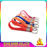 Vender por atacado o 2D bracelete de borracha macio Shaped feito sob encomenda do suporte da chave do silicone