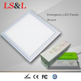 Emergencia impermeable/No-Impermeable LED Panellight plano cuadrado de la UL