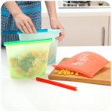 Sacos de frescos de silicone, saco de arrumação de estanqueidade de alimentos, comida sacos selados para organização de gadgets de cozinha