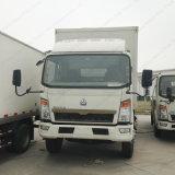 Caminhão leve em forma de caixa de Cnhtc 8-9tons 4X2
