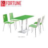 공장 직접 공급된 백색 신선한 현대 목제 간이 식품 테이블 및 의자 (FOH-BC35)