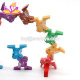 Neue heißeste pädagogische verbindene hölzerne Tierspielwaren für Kinder W13A143