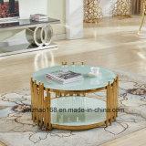 현대 가정 가구 스테인리스 타원형 커피용 탁자
