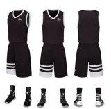 Último diseño en color naranja Color Blanco y Negro Jersey uniforme de baloncesto