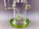 Bontek 6,5 polegadas Crânio Verde fumar o tubo de óleo do tubo de água