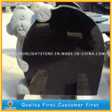 Pedra memorável do granito preto barato de Shanxi//Tombstone grave