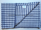 L'usine OEM de produire des vérifications personnalisées Jacquard 40*65cm Bleu coton Terry Torchons de cuisine
