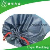 Sac d'emballage pliable d'achats de polyester coloré rond