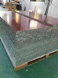 Surface du grain de bois couleur bois aluminium Panneau alvéolé
