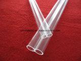 높은 순수성 투명한 석영 두 배 관