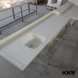 Верхняя часть тщеты ванны Kingkonree изготовленный на заказ белая твердая поверхностная каменная