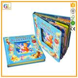 Impressão elevada do livro de crianças da cor cheia de Qaulity 3D (OEM-GL001)
