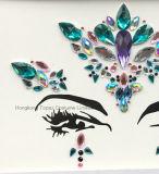 Neues Jahr-Festival-Diamant-Aufkleberselbstklebender Rhinestone-Aufkleber-Gesichts-Edelstein-Karosserien-Schmucksache-Tätowierung-Aufkleber (SR-04)