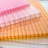 Folha desobstruída da cavidade do policarbonato do estilo 10mm de China para o telhado