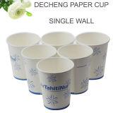 Taza caliente de papel barata al por mayor de 8 onzas con el copo de nieve